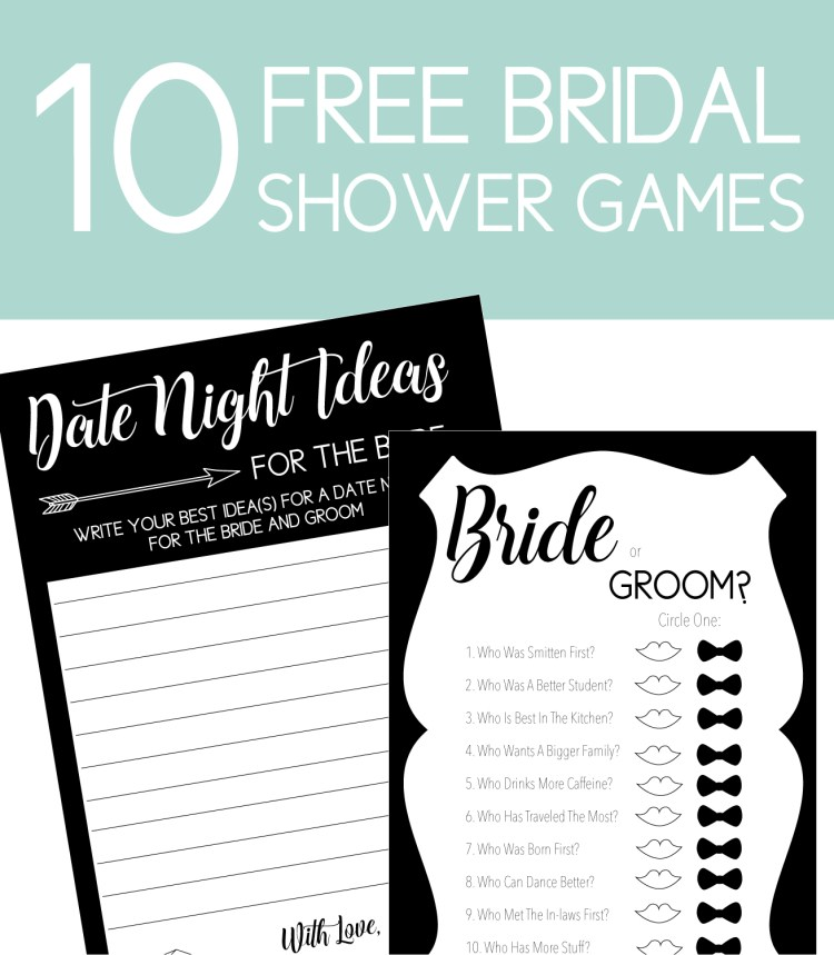 date night ideas and bride or groom games
