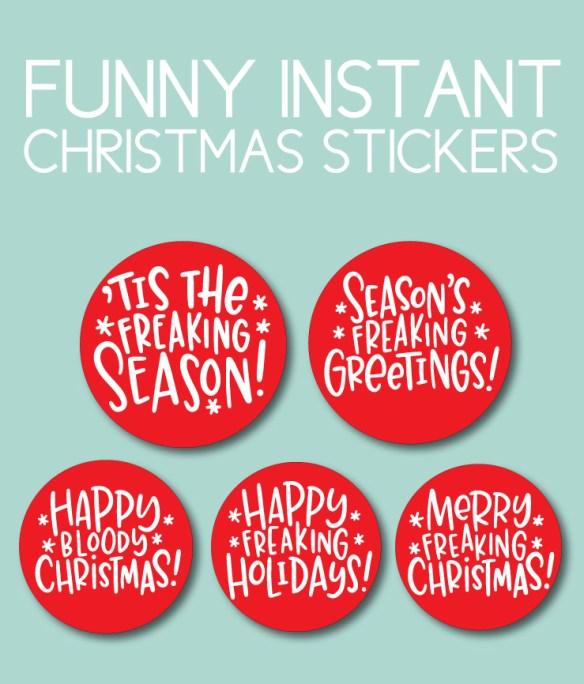 Funny, Printable Christmas Stickers