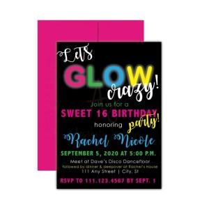 Glow in the Dark Party Invite