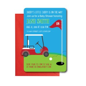 Golf themed Baby Shower Invite