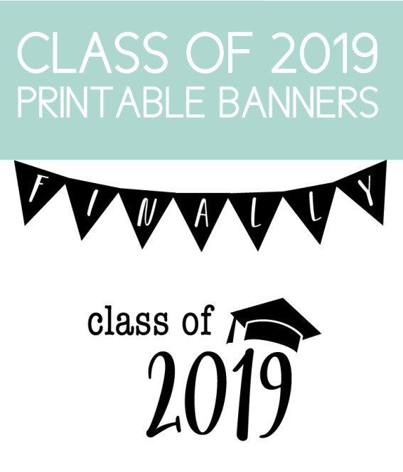 Class of 2019 Printable Banner