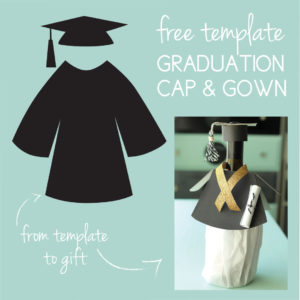 Download a free cap and gown template on the Journey Junkies page.