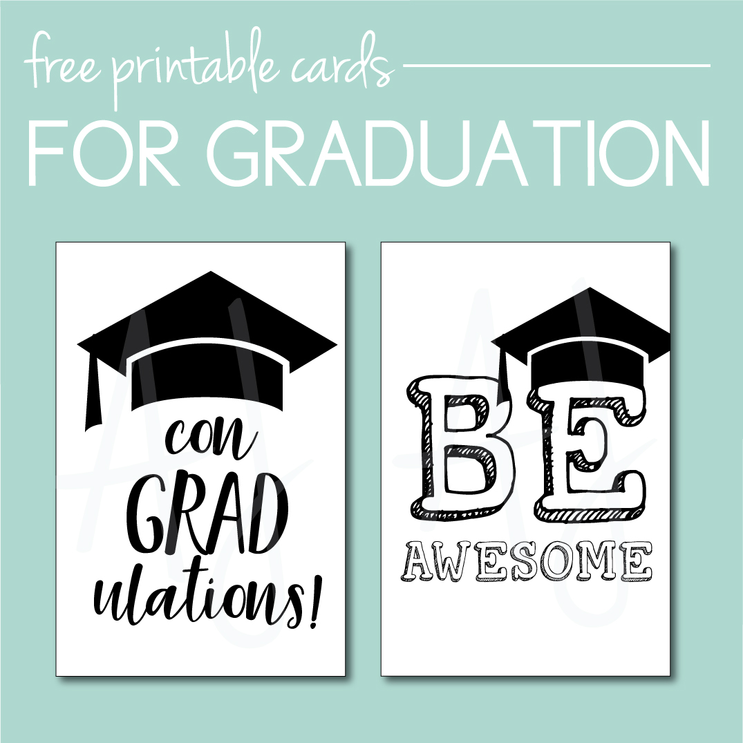 photograph relating to Printable Grad Cards known as 17 Commencement Social gathering Strategies Oneself Can Down load and Print at Household