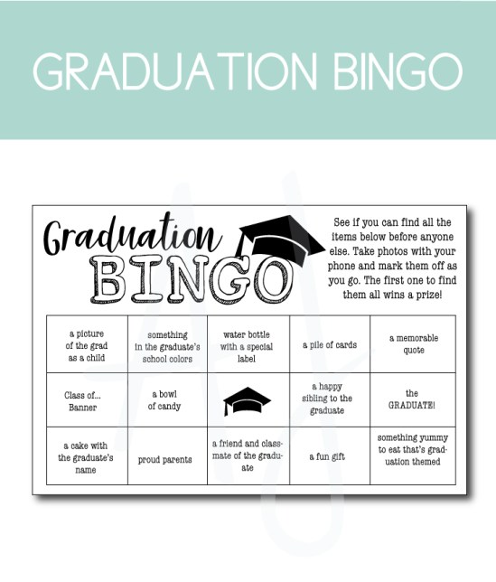 17 Graduation Party Ideas You Can Download And Print At Home Aesthetic Journeys