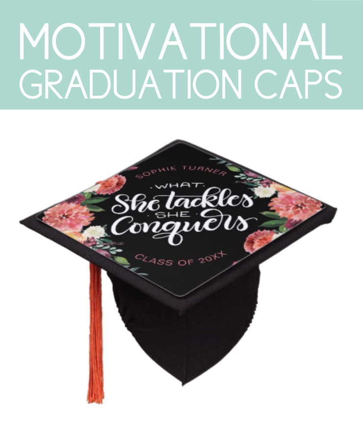 Motivational graduation caps