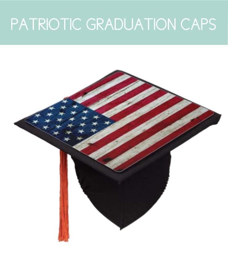 Patriotic Graduation Caps