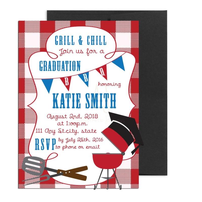 Grill and chill graduation invite