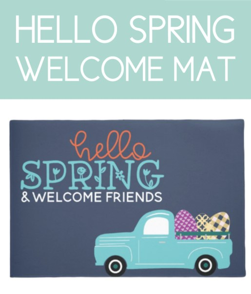 Farmhouse Inspired Spring Welcome Mat
