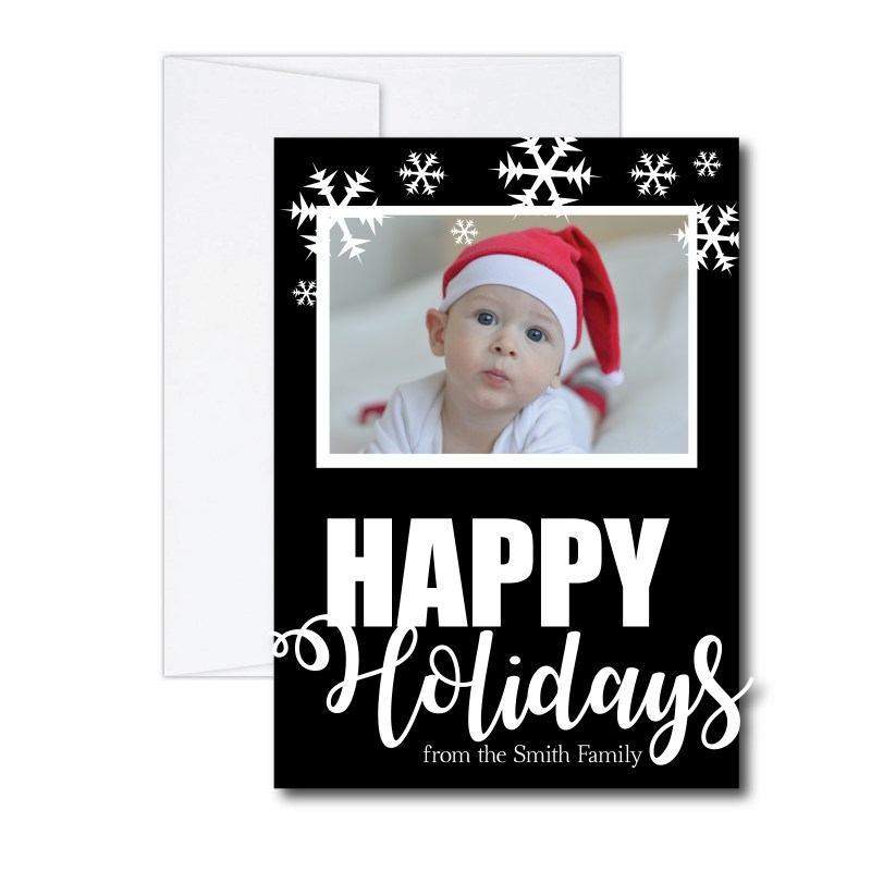 Simple Happy Holidays Card