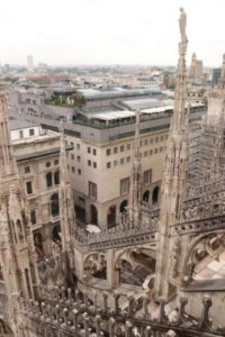 Climb to the top of the Cathedral for up close views of the details