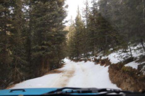 Driving down from Greenie Peak