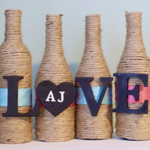 Valentine Crafts: Wine Bottle Vases