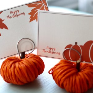 Happy Thanksgiving Place Card Holders
