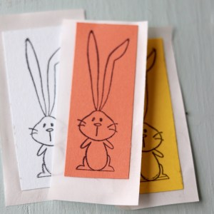 Colorful Square Bunny Stickers