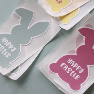 Colorful Easter Bunny Stickers