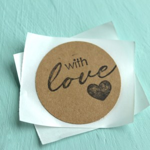 Circle Shaped With Love Stickers