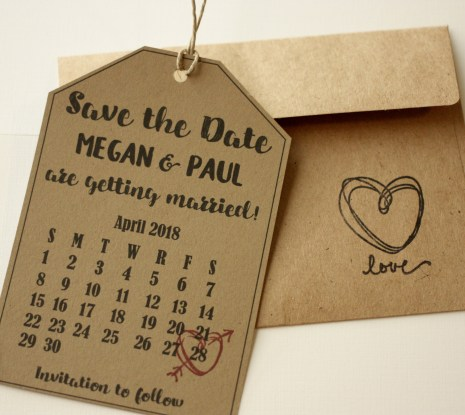 Fun Shaped Save the Date Tag