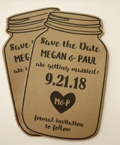 Fun Shaped Save the Date Jar