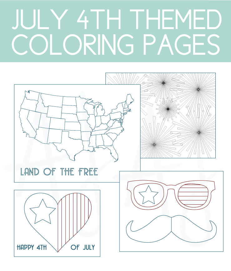 July 4th themed coloring pages