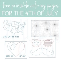 Download free coloring pages for the 4th of July!