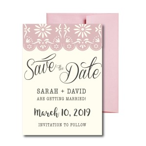 Fiesta themed Save the Date with Lace