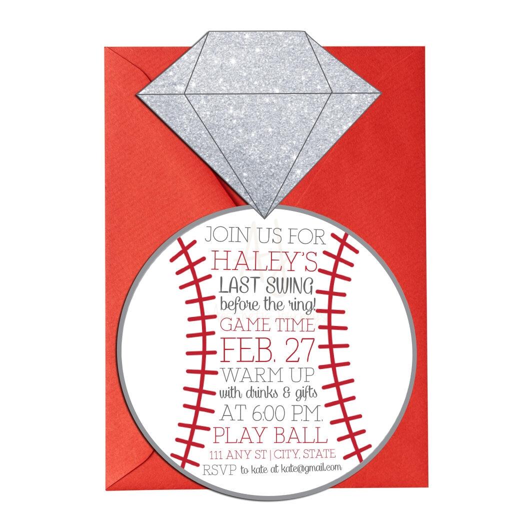 baseball themed bridal shower