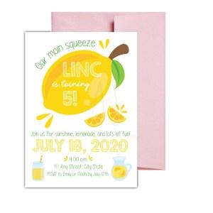 Lemon Party Invite
