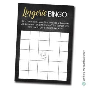Lingerie BINGO