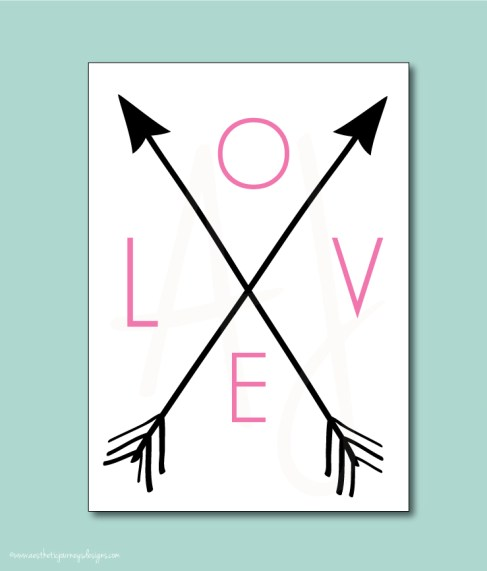 Love and Arrows Valentines Day Decor