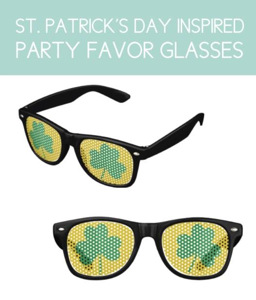 Shamrock Inspired Party Favor Sunglasses