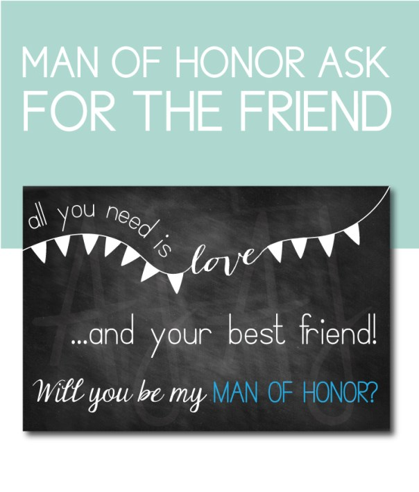 Man of Honor Ask Card for the best friend