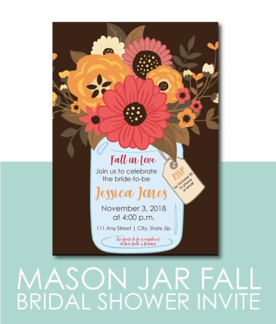 Mason Jar Bridal Shower Invite