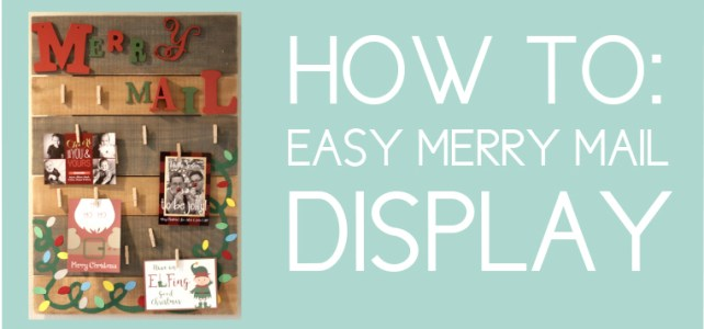 Christmas Card Decor Idea: How to Easily Display Your Merry Mail