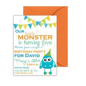 Monster Themed Birthday Invite