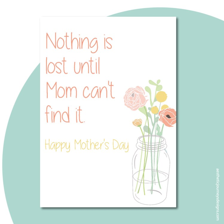 Nothing is lost quote about Mothers