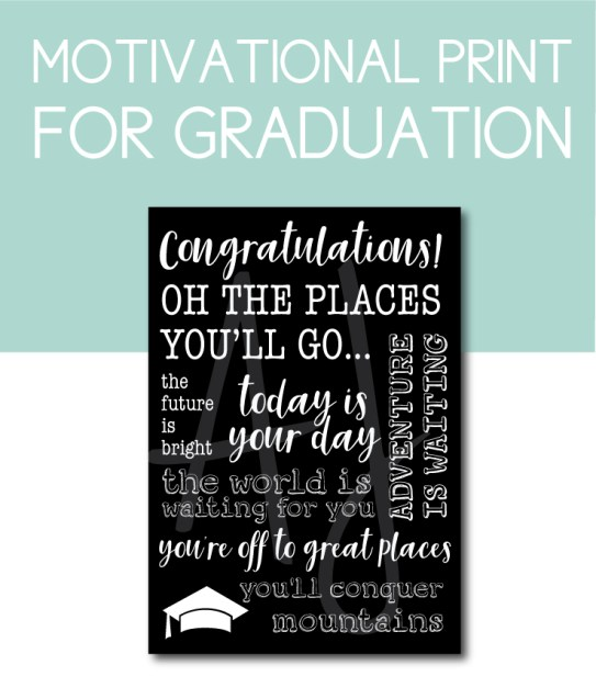 Motivational Print for the Graduate