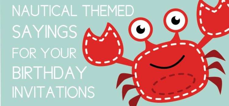 Nautical Birthday Sayings