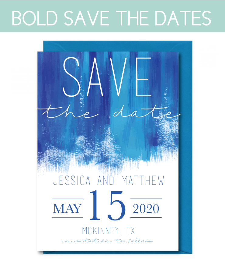 Bold, Watercolor Save the Date