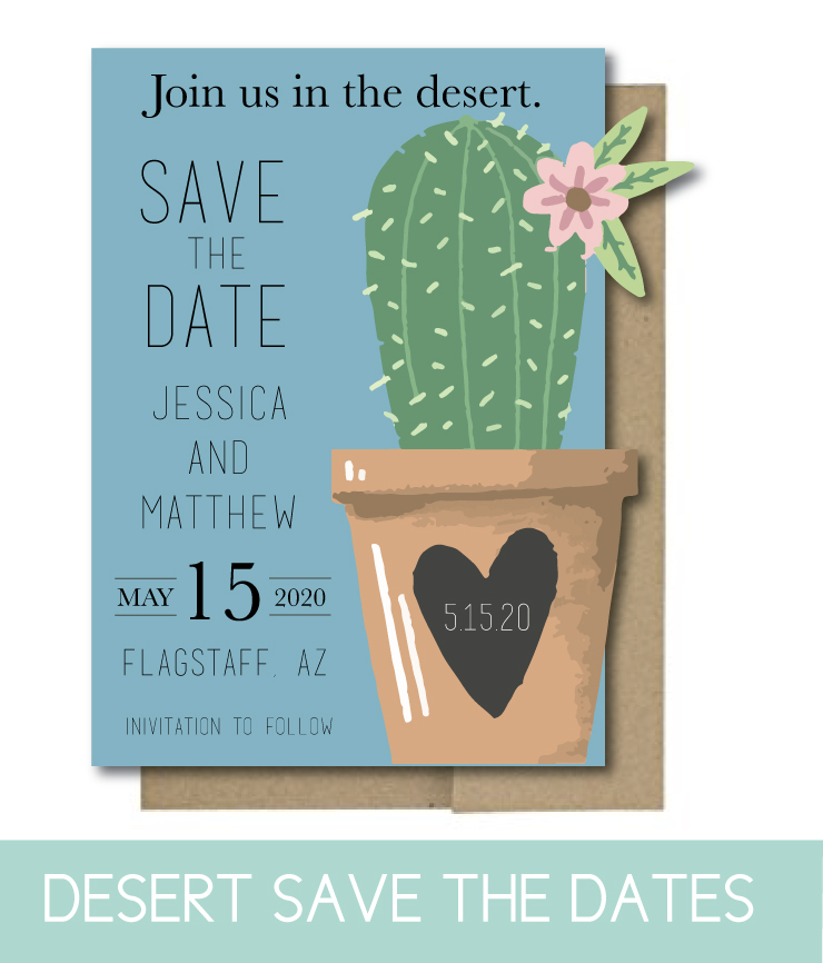 Desert-themed Save the Dates