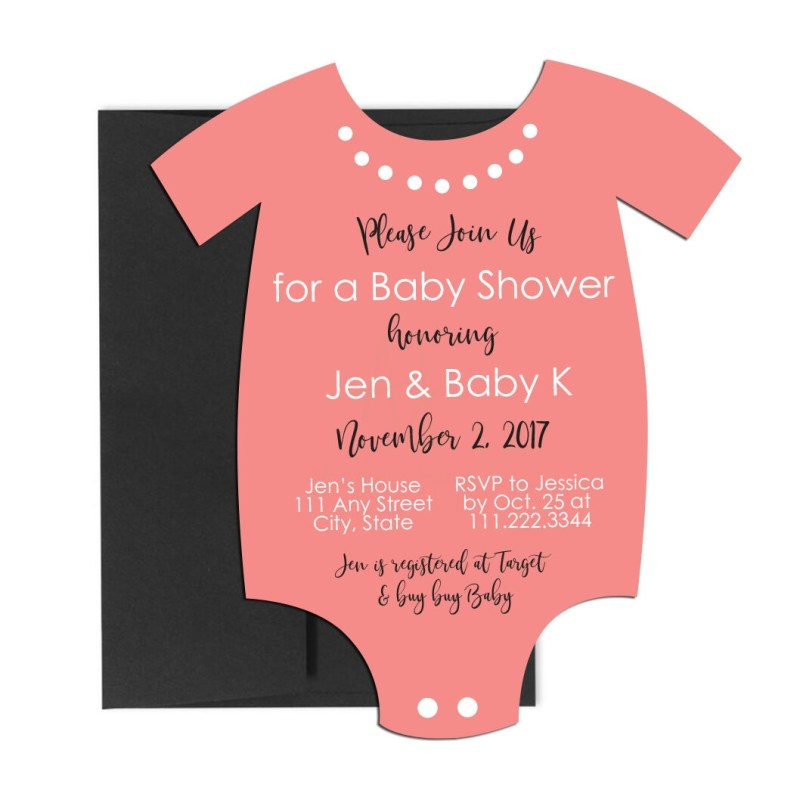onesie baby shower invite