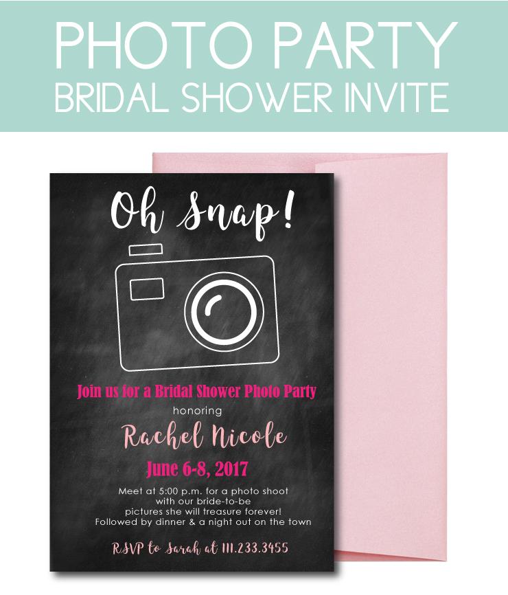 Photoshoot bridal shower