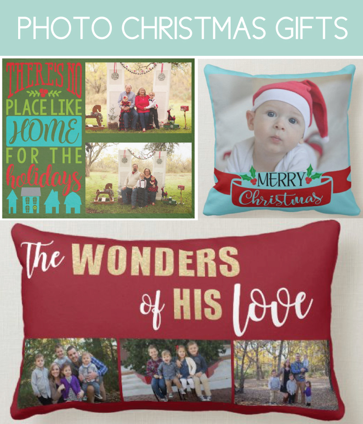 Photo Blankets and Pillows for Christmas