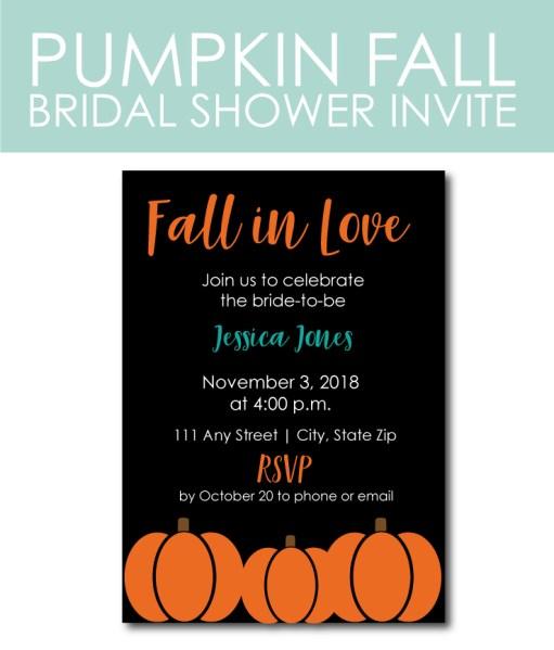 Pumpkin Bridal Shower Invite