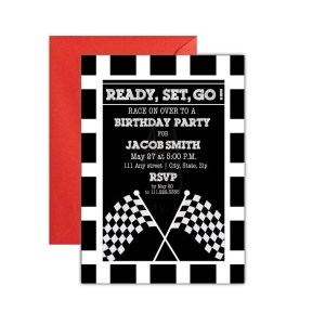 Race Car Party Invite