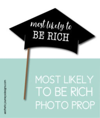 Most Likely to Be Rich Photo Prop