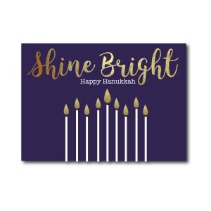 Navy Shine Bright Hanukkah Card