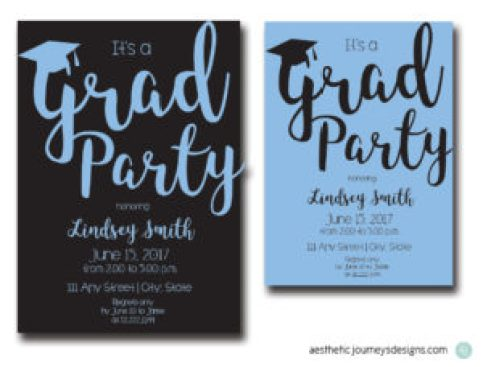Simple Graduation Invites