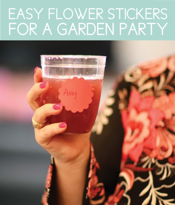 Easy Flower Stickers for Party Cups
