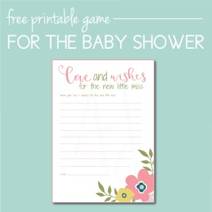 Download a free floral baby shower game on the Journey Junkies page