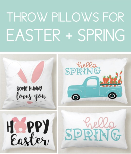 Easter and Spring Throw Pillows
